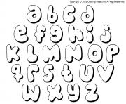 Printable bubble letters bubble gums coloring pages