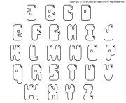 Print bubble letters printable coloring pages