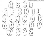 Printable bubble letters coloring pages