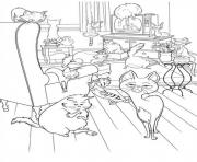 party time secret life of pets coloring pages