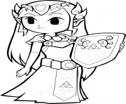 Printable toon zelda coloring pages
