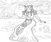 Printable princess zelda coloring pages