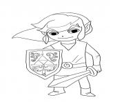 link from legend of zelda wind waker coloring pages