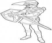 legends of zelda coloring pages