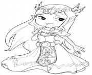 Printable zelda games coloring pages