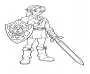 Printable link form zelda ready coloring pages