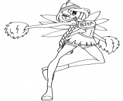 Printable bloom cheerix winx club  coloring pages