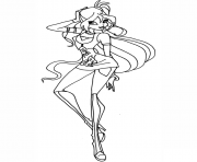 rock bloom winx club  coloring pages