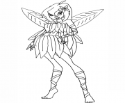 Printable bloom flowerix winx club  coloring pages