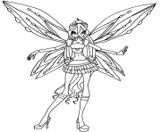 Printable zoomix bloom winx club  coloring pages