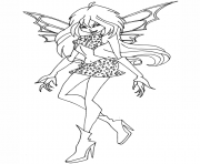 dark bloom winx club  coloring pages