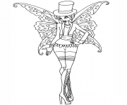 gothic bloom winx club  coloring pages