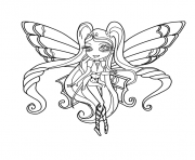 Printable Chibi Stella Enchantix Winx Club Coloring Pages