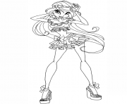 Printable bloom winx club coloring pages