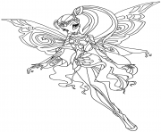 Printable bloomix stella winx club coloring pages