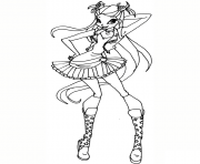 rock stella winx club coloring pages