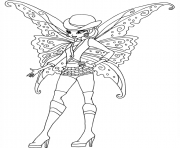 Printable gothic stella winx club coloring pages