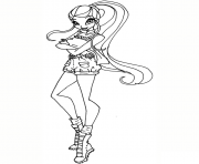 Printable safari stella winx club coloring pages