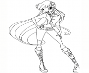season 5 disco stella winx club coloring pages