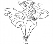 winx stella winx club coloring pages