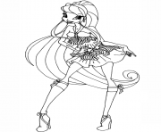 Printable stella season 5 winx club coloring pages