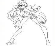 stella charmix pose winx club coloring pages