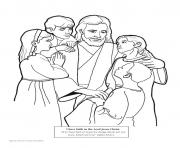 Print faith in the lord jesus christ coloring pages