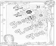 Printable jesus loves you coloring pages