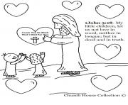 Print jesus christ love coloring pages