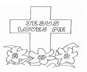 Print jesus loves me picture coloring pages