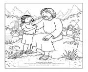 Print jesus christ is my savior coloring pages