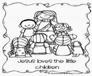 Printable jesus loves the little children coloring pages