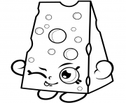 Print Cartoon Cheese to Colour coloring pages