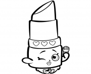 Printable Beauty Lippy Lips shopkins season 1s coloring pages