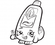 Printable Cartoon Toothpaste shopkins season 1 coloring pages