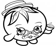 Printable Limited Edition Papa Tomato shopkins season 1 coloring pages
