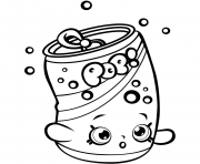 Printable Soda Pops shopkins season 1 for Kids coloring pages