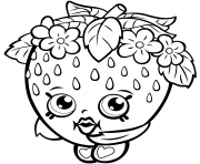 Printable Strawberry Kiss Season One shopkins season 1 coloring pages