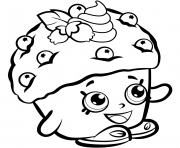 Printable Mini Muffin shopkins season 1 coloring pages