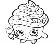 Print Cupcake Queen Exclusive to Color coloring pages