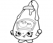 Printable Cute Ketchup shopkins season 1 coloring pages