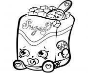 Printable Sugar Lump shopkins season 1s coloring pages