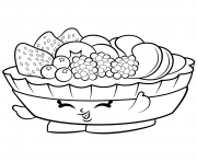 Printable Exclusive Fifi Fruit Tart to Color shopkins season 2 coloring pages