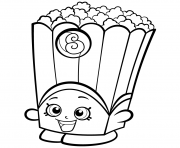 Printable Popcorn Box Poppy Corn Shopkins Season 2 Coloring Pages