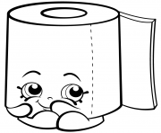 Printable Sweat Leafy Roll of Toilet Paper shopkins season 2 coloring pages