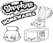 Printable Homewares Collection shopkins season 2 coloring pages