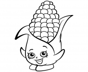 Printable Exclusive Corny Cob shopkins season 2 coloring pages