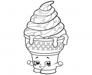Printable Sweet Ice Cream Dream shopkins season 2 coloring pages