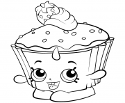 Exclusive Colouring Pages Cupcake Chic shopkins season 2