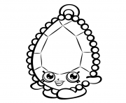 Printable Brenda Brooch shopkins season 3 coloring pages